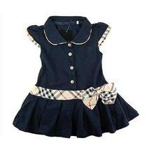 Los niños al por mayor al por menor / vestidos de las muchachas Marca Niños princesa vestido de verano de algodón del niño / del bebé Polo vestido adolescente envío gratis (China (continental))