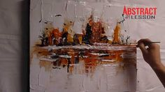 AMAZING ABSTRACT PAINTING VIDEO LESSON - at the edge