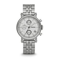 Fossil Boyfriend Chronograph Watch in shades of Silver.
