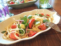 気まぐれキッチン Andante | フルーツトマトとアボカドのイタリア風冷やしうどん♪
