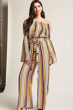 Forever 21 Stripe Self-Tie Palazzo Pants Shop Forever, Forever 21, Jumpsuit Outfit, Palazzo Pants, Latest Trends, Chic, Best Deals, Tees, Shorts