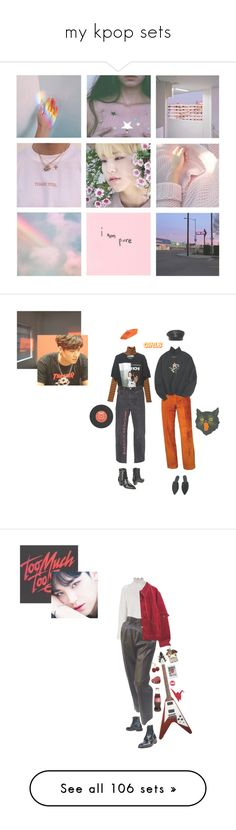 """my kpop sets"" by eggtartt ❤ liked on Polyvore featuring seventeen, EXO, bts, BlackPink, nct, art, 3.1 Phillip Lim, The Kooples, Dsquared2 and vintage"