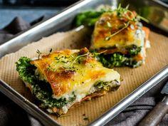 Recipe: Vegetable lasagne with sweet potato and eggplant - Vegetarische Rezepte - Food Cabbage Vegetable, Vegetable Lasagne, Vegetable Recipes, Vegetarian Recipes, Aubergine Recipe, Thyme Recipes, Sweet Potato Recipes, Different Recipes, Breakfast Recipes