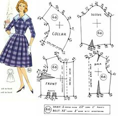 What You Need To Know About Hobbies * You can get more details by clicking on the image. Vintage Dress Patterns, Barbie Patterns, Doll Clothes Patterns, Vintage Sewing Patterns, Sewing Clothes, Clothing Patterns, Couture Vintage, Vintage Fashion, Bodice Pattern
