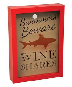 Love this 'Swimmers Beware' Wall Cork Holder on #zulily! #zulilyfinds