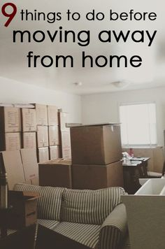Things to Do Before Moving Away From Home