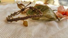 friendship bracelet macrame bracelet light brown by NarkisMacrame