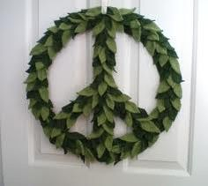 I love the peace sign. This would look great with tye die fabric or rainbow yarn.