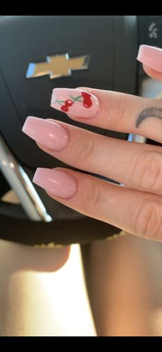 Skin Care Advice That Will Bring About Glowing And Radiant Skin - Beauty Set Skincare Acrylic Nails Coffin Short, Simple Acrylic Nails, Summer Acrylic Nails, Best Acrylic Nails, Acrylic Nail Designs, Summer Nails, Cute Nails, Pretty Nails, Cherry Nail Art