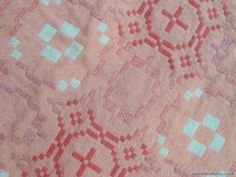 Apple Blossom pink tapestry in Trefriw`s G pattern TBV109 - Tapestry Bed Covers Vintage   Welsh Blankets
