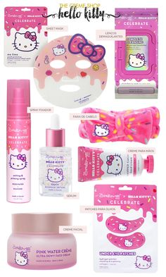 The Crème Shop x Hello Kitty Hello Kitty House, Hello Kitty Items, Hello Kitty Things, Hello Kitty Bathroom, Face Care, Body Care, Skin Care, Little Girl Toys, Toys For Girls