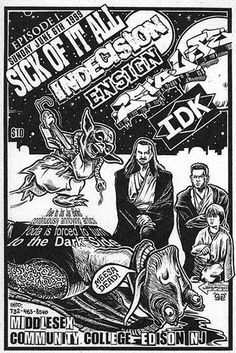 Sick of it All, Indecision, Ensign, 25 ta Life punk hardcore flyer