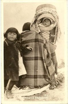 Paiute mother and children - circa 1900