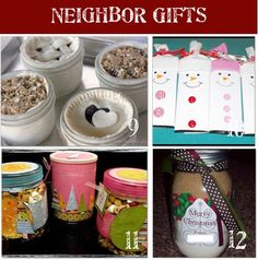 186 Neighbor Homemade Christmas Gift Ideas (Teachers too?)