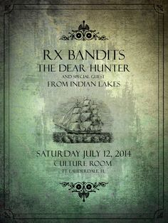 RX Bandits ~ Culture Room ~ Ft. Lauderdale #RXBANDITS #RXB #FTLAUDERDALE #CULTUREROOM #THEDEARHUNTER #FROMINDIANLAKES