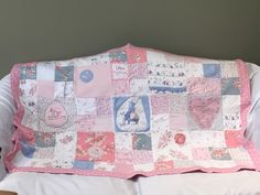 Keepsake/ memory quilt using babygrows, clothing and also favourite bedding, blankets etc
