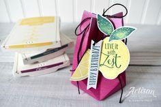 Lemon Zest Stamp Set, Gift Bag Punch Board, #seeinginkspots #stampinup