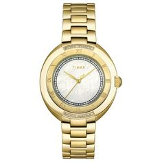 Timex Womens T2M597 Diamond Accented GoldTone Stainless Steel Bracelet Watch >>> Details can be found by clicking on the image.