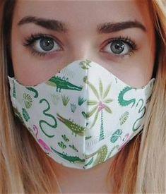 Easy Face Masks, Homemade Face Masks, Diy Face Mask, Nose Mask, Creation Couture, Diy Mask, Fashion Face Mask, Sewing Patterns Free, Sewing Hacks