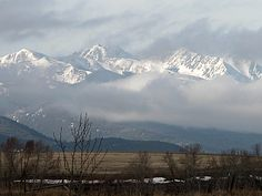 could never get tired of seeing this out my window.... Bozeman, Montana
