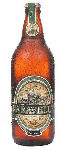 Cerveja Karavelle Pilsen, estilo Standard American Lager, produzida por Cervejaria Karavelle, Brasil. 4.5% ABV de álcool.