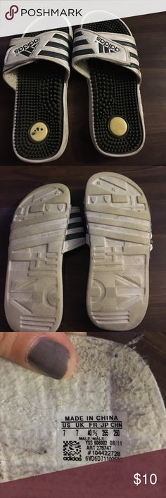 Adidas Slides Used but still in good condition. They are a men's size 7 adidas Shoes Sandals & Flip-Flops
