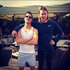 Darren Criss and Chord Overstreet  #Blam  #glee