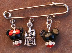 Mickey and Minnie Mouse Style Lampwork Disney by chuckhljal, $34.00