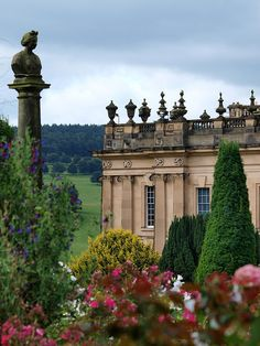 Chatsworth House in the Derbyshire Dales, England