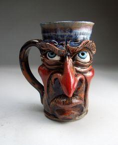 Face Mug 3 -- Fusion Art Glass Online Store - creature cups lesson