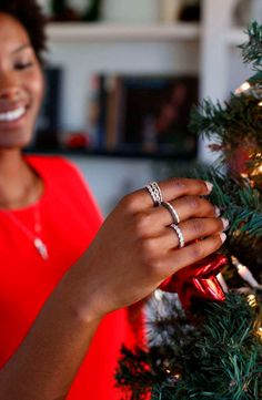 3b13fdfb5 Add some sparkle to your wish list this year with stackable rings. Holiday  Jewelry,