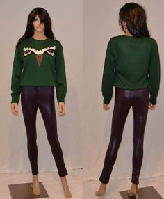 Green Owl Eyes Jumper Sweater Top only £9.99