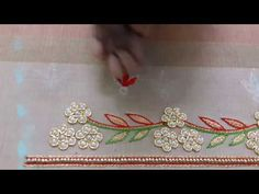 Making of hand Embroidery Buti - Maggam work making video -  part 2 - YouTube