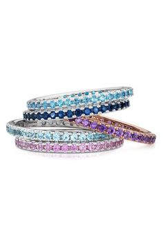 stack rings. Blue Nile.