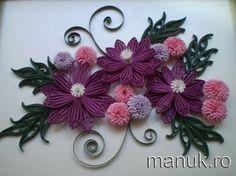 *QULLING ~ pretty quilled flower arrangement - by: Manuela Koosch - RO