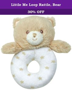 Little Me Loop Rattle, Bear. A fun bear and easy-to-hold rattle for little me's littlest fans is ideal for small hands. With its soft plush face and baby-soft knit ring, the bear rattle makes a fun noise and sparks the joy of movement for little ones.