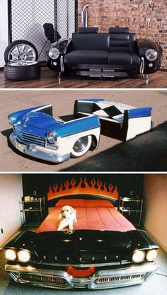 Ok some more cool manly furnishings! I like that Mercury Bed!