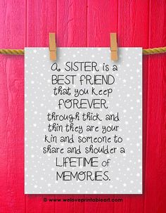 Best Friend Sister Gift Sisters Wall Art Unique Gifts For Birthday Christmas Ideas Big