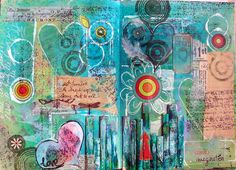 art journal page***CREATE MONOCHROM- ATIC,MOSTLY, PGS.,DO ALL THE COLOURS