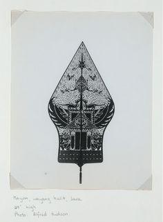 "Kayon [or gunungan, ""tree of life"" or a mountain], Wayang kulit, Java. New York Public Library"