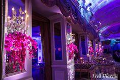 room decor hot pink orchids wedding floral design by @latelierrouge www.latelierrouge.com