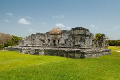 Temple of the Descending God in Tulum Mayan Ruins