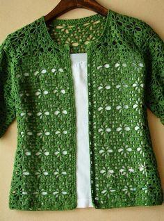 Blusas de Crochê Fotos, Modelos, Gráficos, passo a passo e tipos de pontos