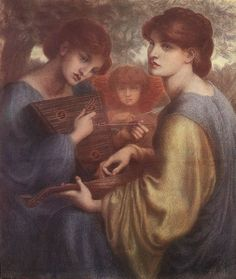 The Athenaeum -ROSSETTI, Dante Gabriel English Pre-Raphaelite (1828-1882)_The Bower Meadow - study - circa 1871-1872