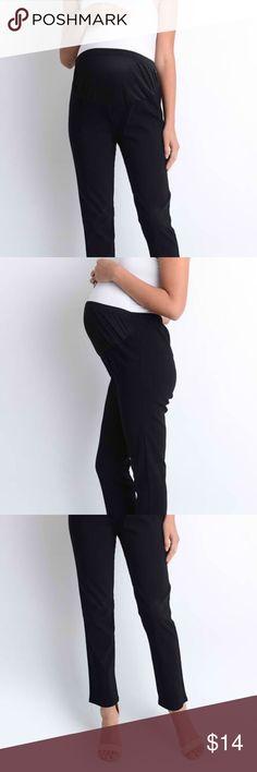 Kahki Maternity Slacks Pants Bottoms Work Attire Wear Belly Band Stretchy