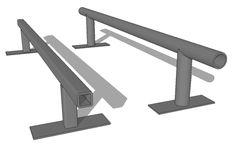 How to make a skateboard Grind Rail