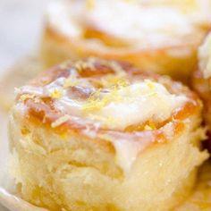 Lemon Rolls With Lemon Cream Cheese Glaze