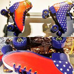 My brand new quad rollers skate #wonderwoman Meus patins novinhos ❤️️❤️️