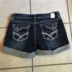Denim shorts. NWOT denim shorts from Maurice's. Dark finish with lighter whiskers under the pockets.Inseam is 4 inches. Thanks for checking out my closet and Happy Poshing.  Maurices Shorts Jean Shorts
