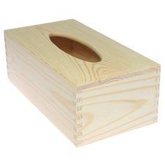 Chustecznik pudełko na chusteczki drewno DECOUPAGE